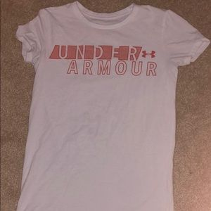 White/red under Armour Shirt